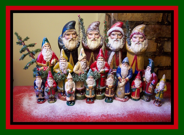 Chalkware Santa Belnickle Father Christmas